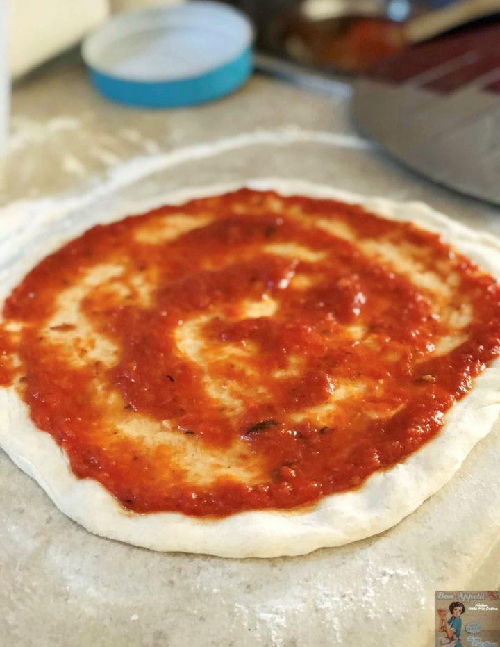 Impasto per pizza con 3 g di lievito secco