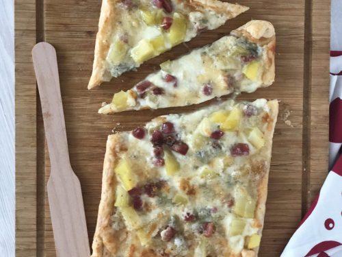 Torta rustica di Patate ,Gorgonzola e Speck