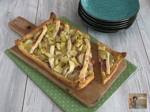 Torta Rustica con Patate, Prosciutto e Carciofini