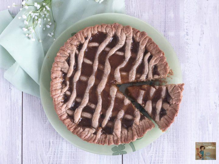 crostata alla confettura  di albicocche con farina integrale