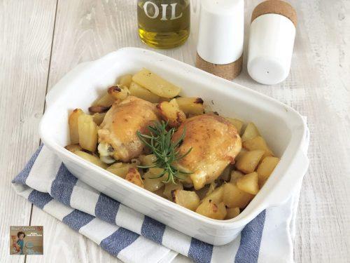 Sovracosce di pollo in forno con patate