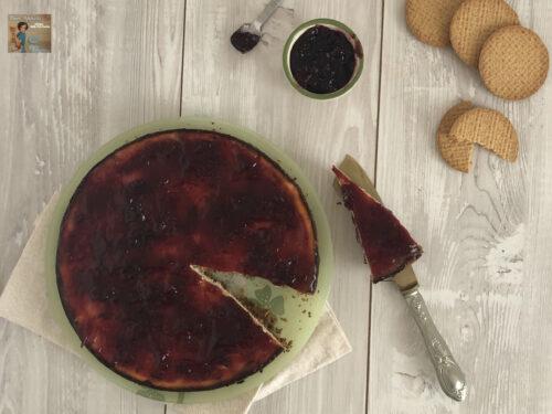 Cheesecake di ricotta cotta al forno