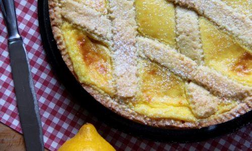 Crostata con crema al limone