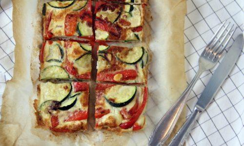 Frittata al forno con peperoni e zucchine