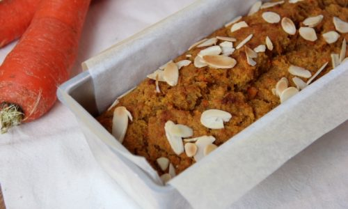 Plumcake alle carote e farina di farro