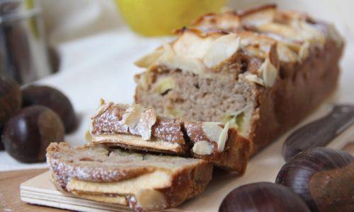 Plumcake con farina di castagne e mele