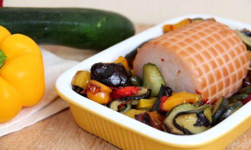 Arrosto di tacchino con verdure al forno
