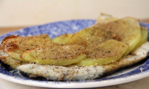 Branzino in crosta di patate