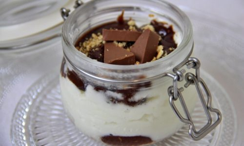 Mini cheesecake al gianduiotto