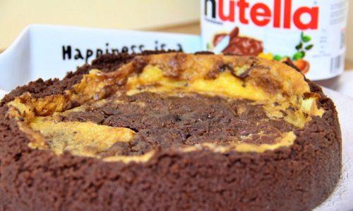 Cheesecake al mascarpone e Nutella al forno