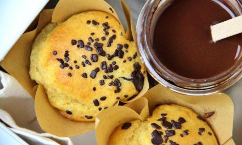 Muffin con cuore al cioccolato fondente