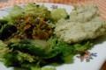 Insalata di lenticchie e focaccine di cannellini