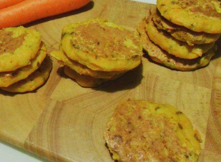 Frittelline di ceci e carote