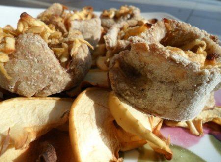 Tortine con stick di mele essiccate