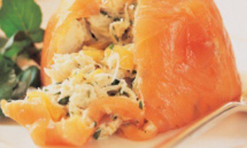 Rotolo di salmone alle verdure
