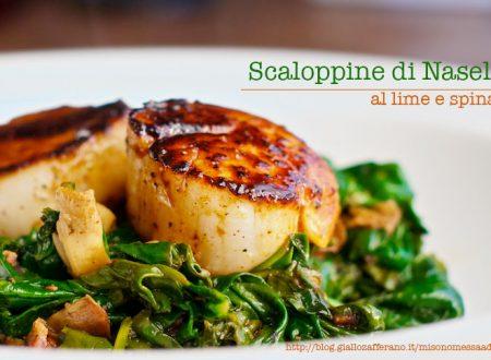 Nasello al lime e spinaci