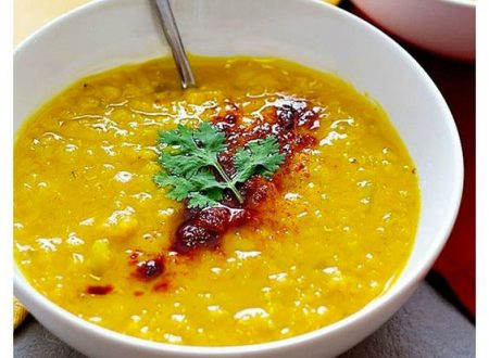 Zuppa di curcuma e lenticchie