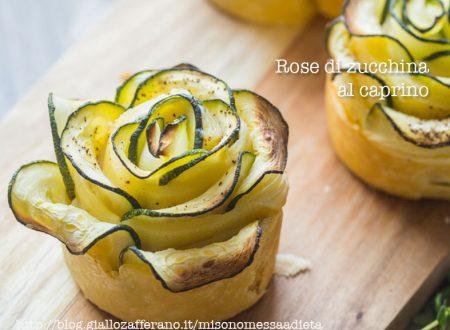 Rose di zucchina light al caprino