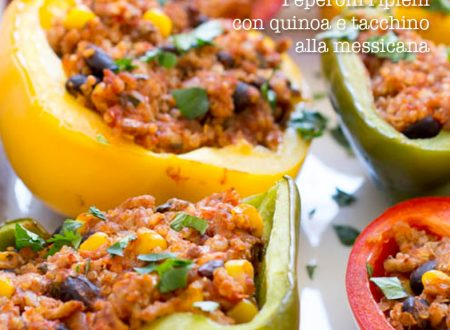 Peperoni ripieni con quinoa e tacchino