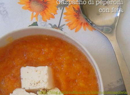 Gazpacho di peperoni alla feta