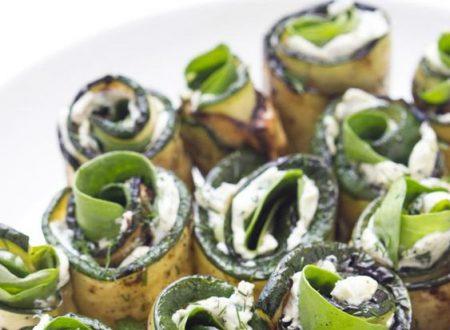 Rotolini di zucchine al pesto