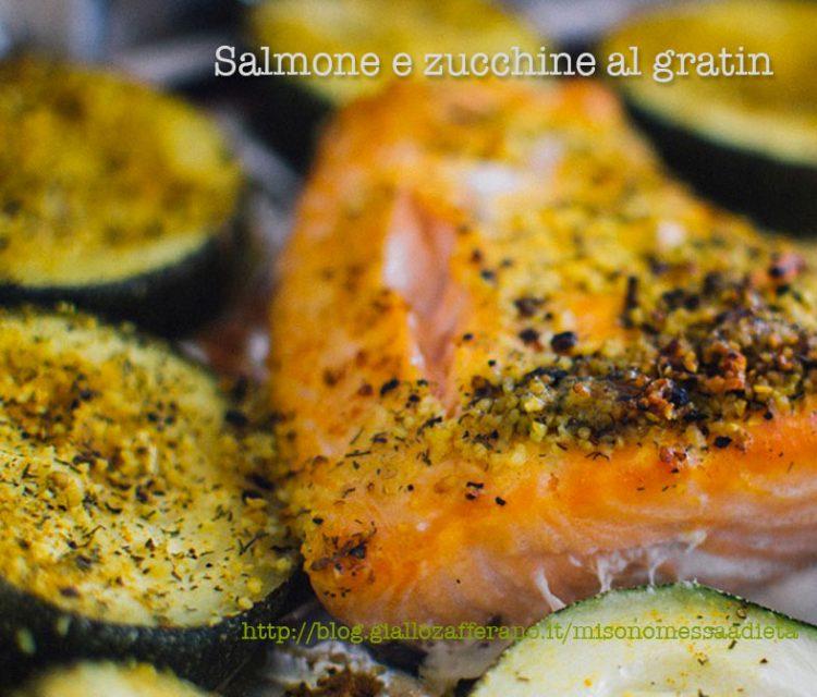 gratin di salmone alle zucchine