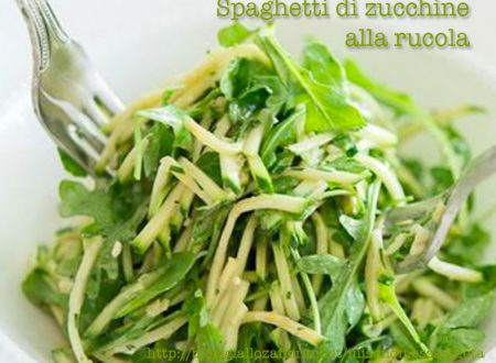Spaghetti di zucchine alla rucola