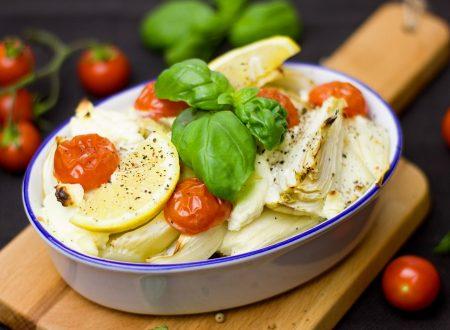 Merluzzo al finocchio e pomodorini