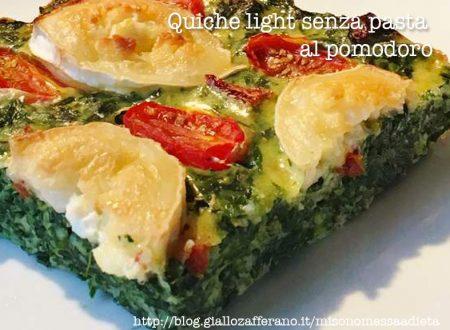 Quiche light senza pasta al pomodoro