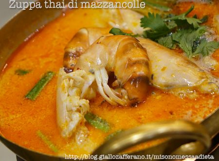 Zuppa thai leggera di mazzancolle