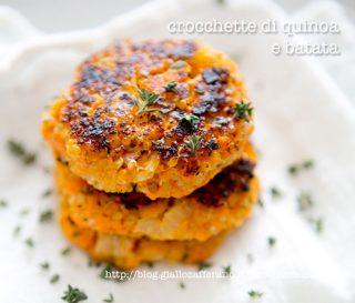 crocchette di quinoa e batata