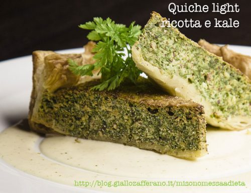 Quiche light ricotta e kale