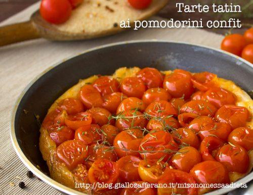 Tarte Tatin ai pomodorini confit