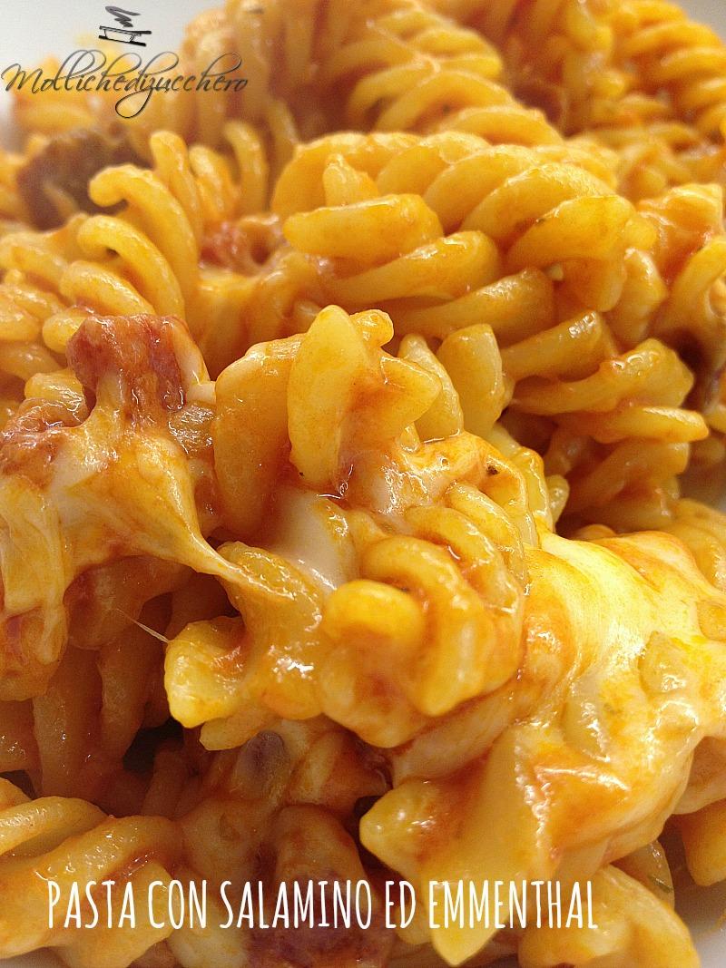 pasta salamino ed emmenthal