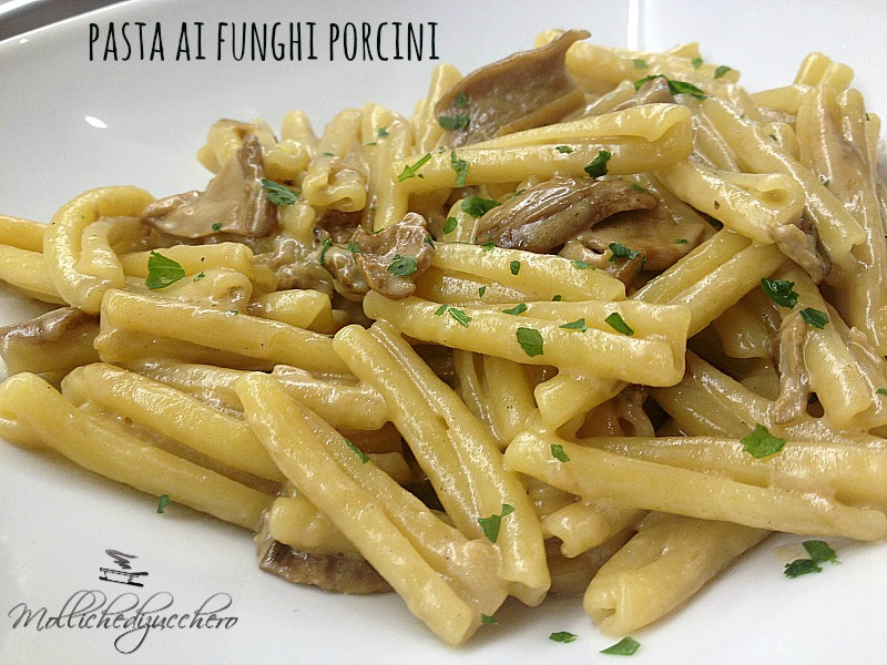 Pasta con funghi porcini mollichedizucchero for Cucinare funghi