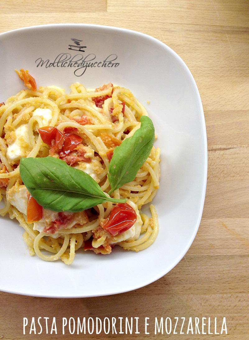 pasta pomodorini e mozzarella