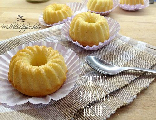 Tortine banana e yogurt