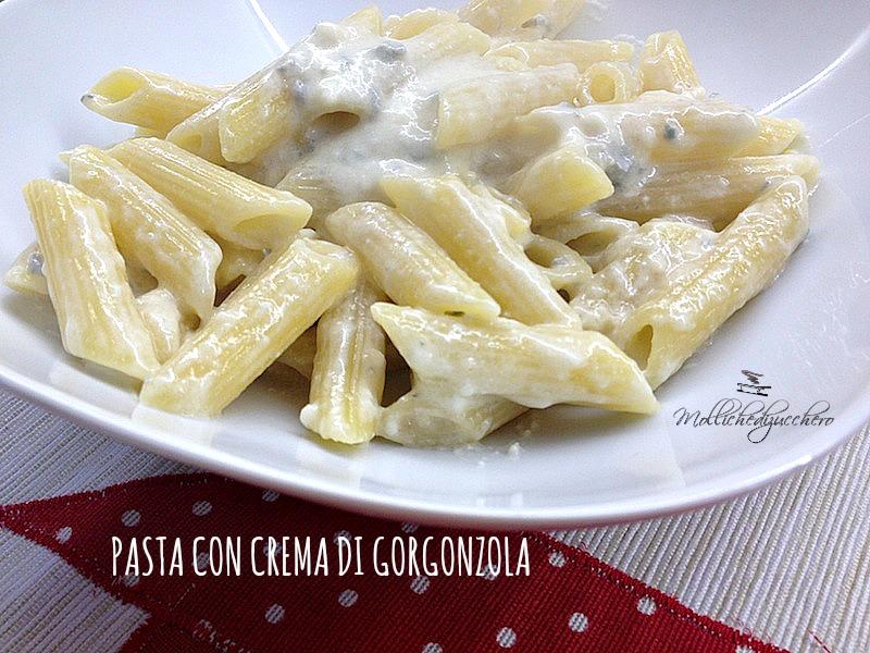 pasta con crema di gorgonzola