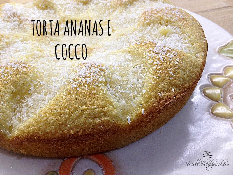 torta soffice cocco ed ananas