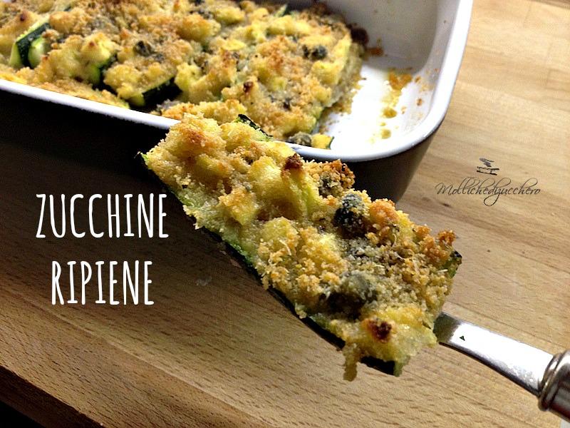 Zucchine ripiene ricetta light - Mollichedizucchero