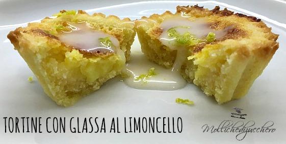 tortine con glassa al limoncello