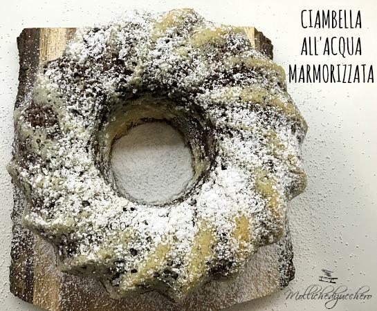 Ciambella all'acqua marmorizzata