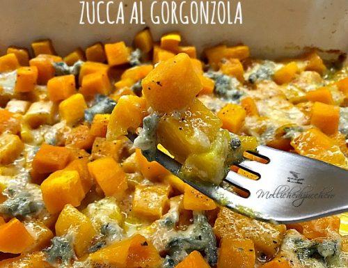 Zucca al gorgonzola contorno veloce
