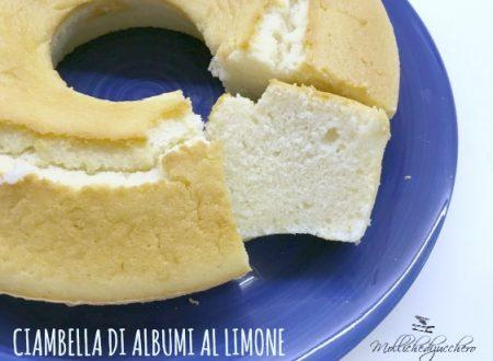 Ciambellone di albumi al limone