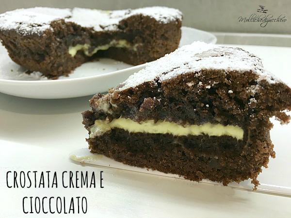 crostata crema e cioccolato