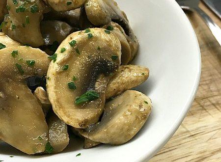 Funghi champignon saporiti - ricetta light -