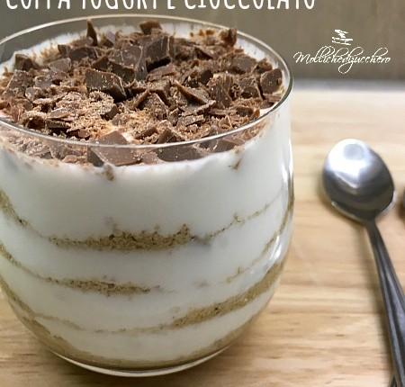 coppa yogurt e cioccolato