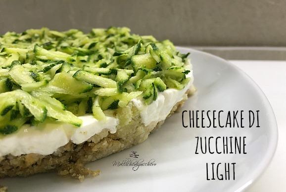 cheesecake di zucchine light