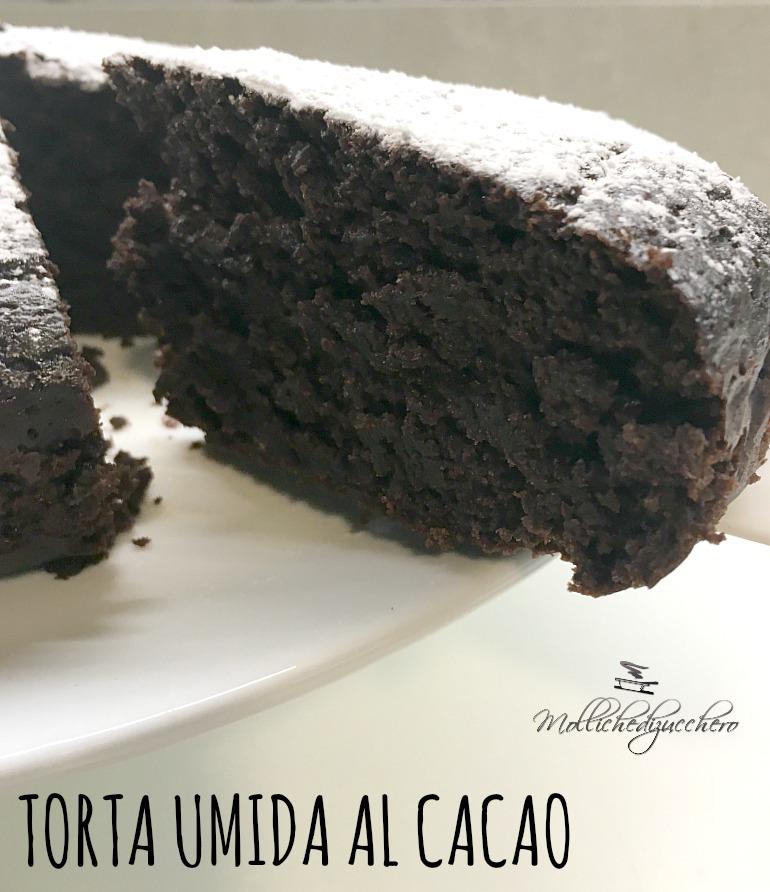 torta al cacao senza uova