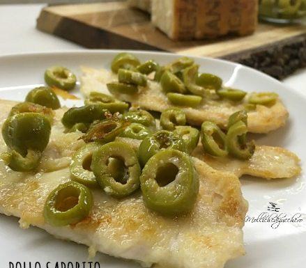 Pollo saporito con olive